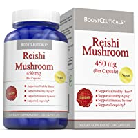 BoostCeuticals Reishi Mushroom Capsules 100 900mg Daily Dose - Ideal No Additives...