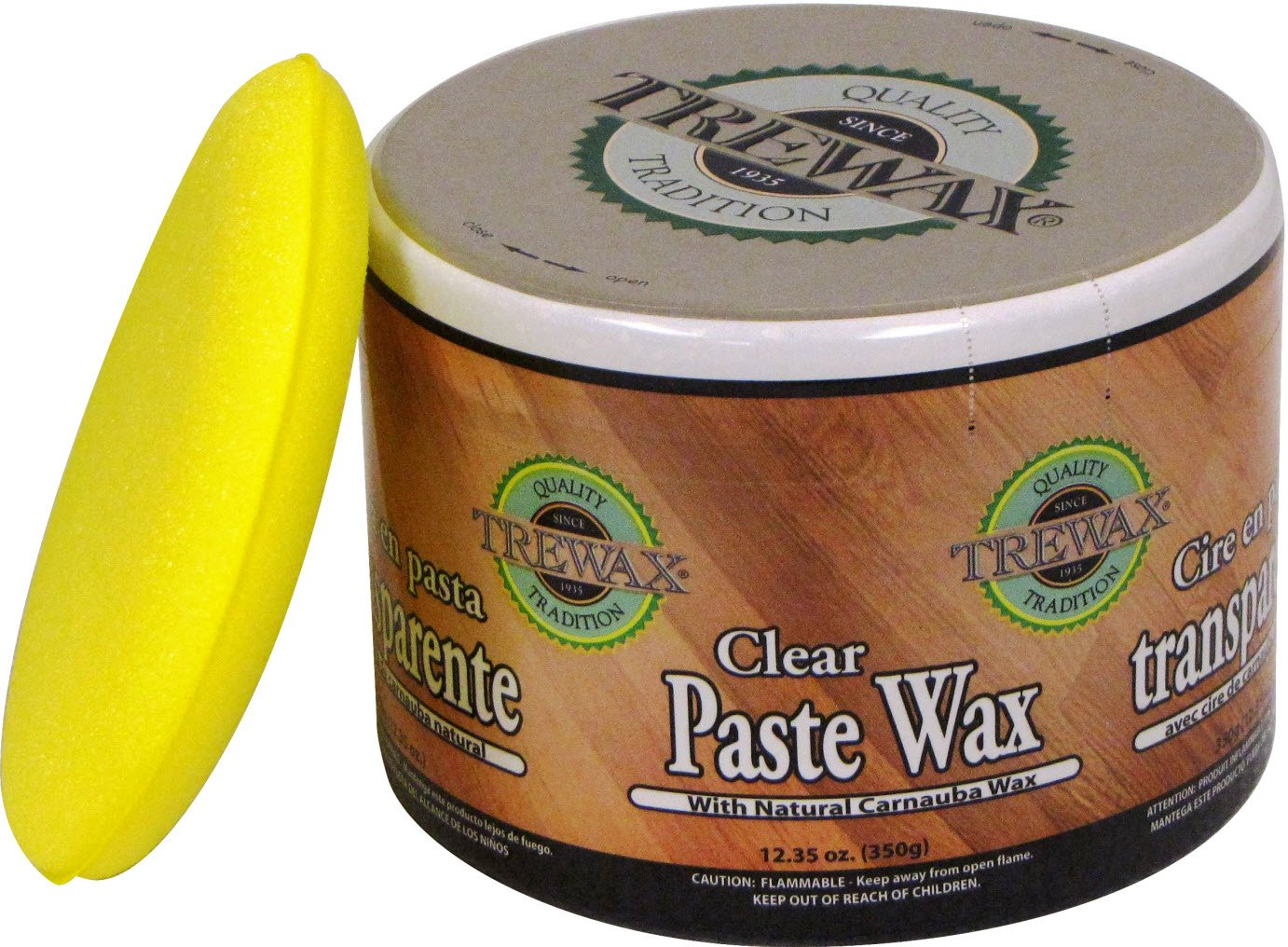Trewax Paste Wax Clear, Pack of 2, 12.35-Ounce by Trewax