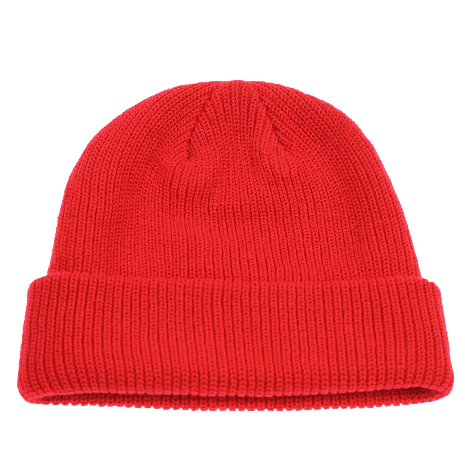 5093c3b94b1 Connectyle Outdoor Classic Bassic Men  s Warm Winter Hats Daily Thick Knit  Cuff Beanie Cap Red