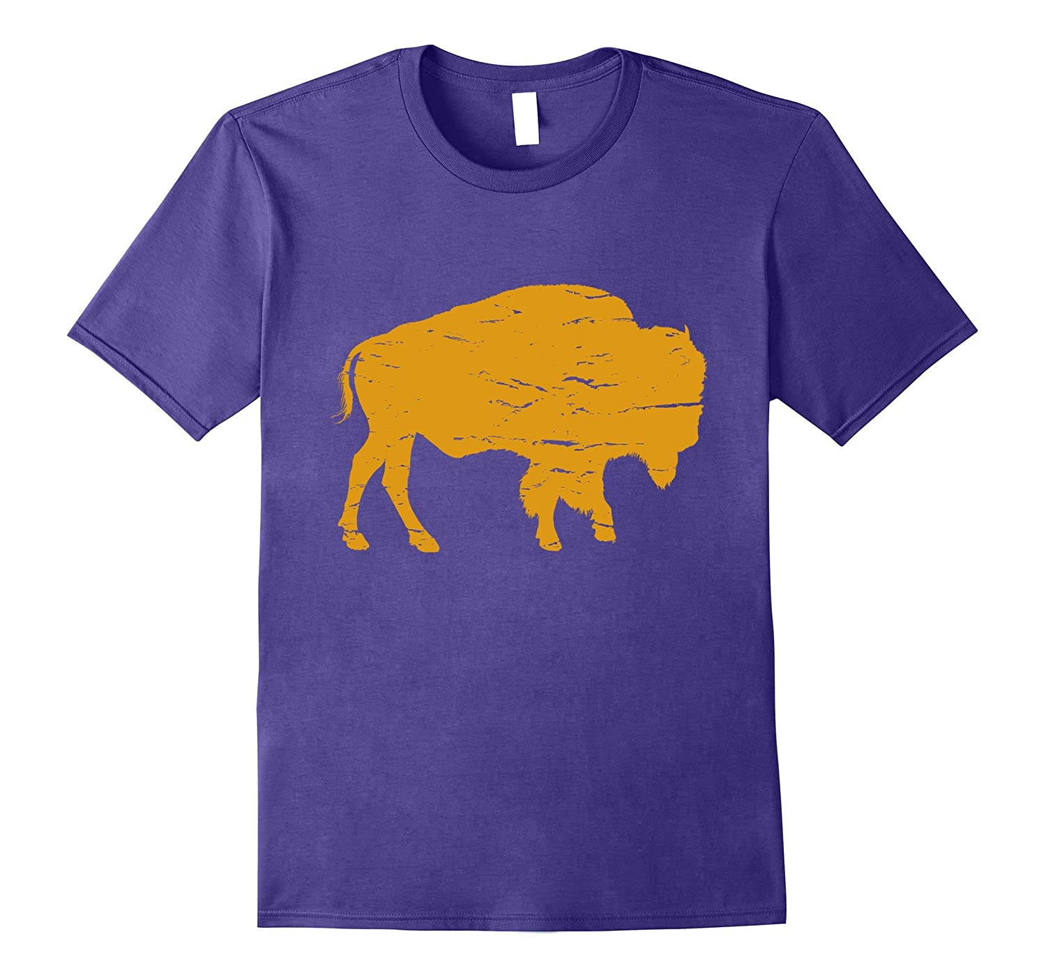 Buffalo Bison Tatanka T-Shirt in Orange-Vaci