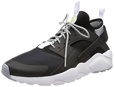 23580569a5aa3 Nike Men s s Air Huarache Run Ultra Low-Top Sneakers Black Wolf Grey-Bright  Cactus