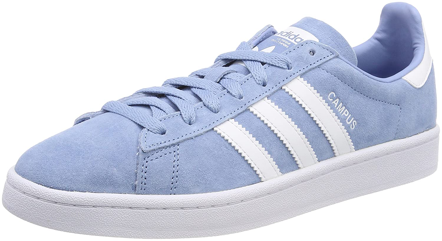 adidas Originals Men's Campus Sneakers B0782119WK 9.5 B(M) US Women / 8.5 D(M) US|Ash Blue/White/White