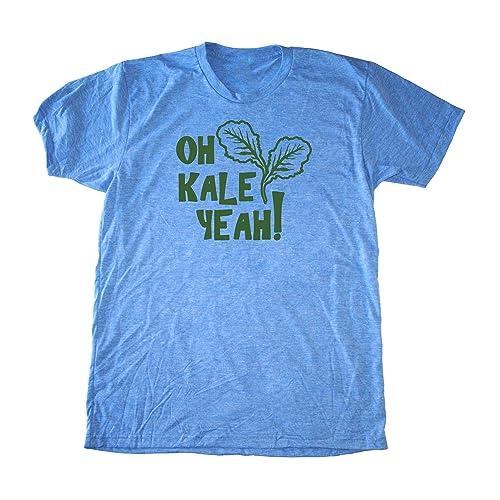 e77e8eb25 Image Unavailable. Image not available for. Color: Men's Kale Shirt - Oh Kale  Yeah ® - Funny Vegan T-Shirt