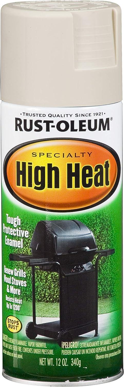 Rust-Oleum 7750830 High Heat Enamel Spray, 12 oz, Almond