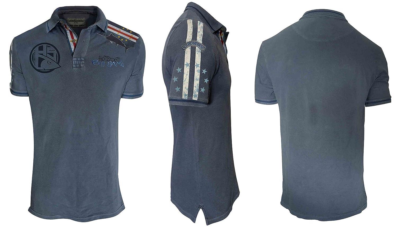 Hotspot Design Poloshirt Big Game Cabo Verde, Blau, Angler Polo Hemd