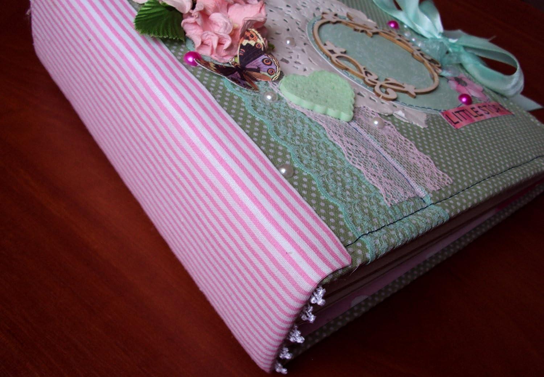 Hecho a mano Álbum de papel fotográfico madera organizador algodón arcilla multicolor belleza: Amazon.es: Oficina y papelería