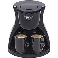 Bestron Duo kaffemaskin inkl. 2 koppar, för malt filterkaffe, 450 watt, svart