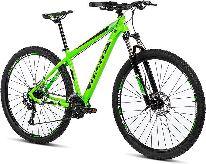 Moma Bikes Mtb29 Peak M Bicicleta de Montaña, Frenos de Disco hidraulicos, 27V, Unisex Adulto, Verde