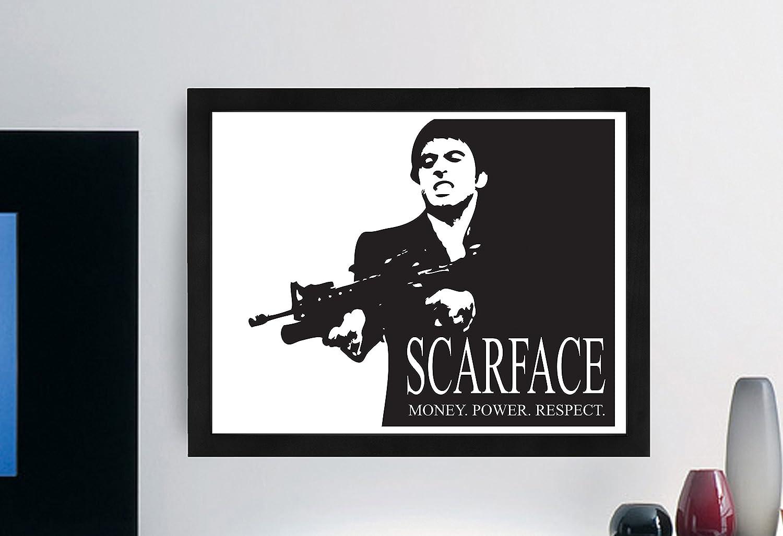 Amazon.com : Scarface Typography B+w Print \