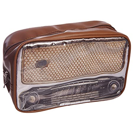 Retro Radio Design Washbag - 1950\'s Radio: Amazon.co.uk: Kitchen & Home