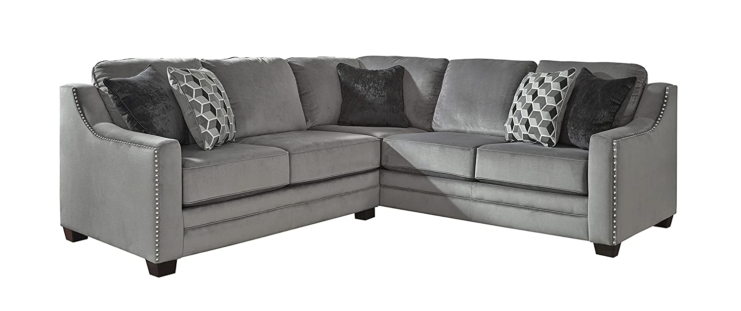 Wondrous Amazon Com Bicknell Contemporary Charcoal Color Sectional Pdpeps Interior Chair Design Pdpepsorg