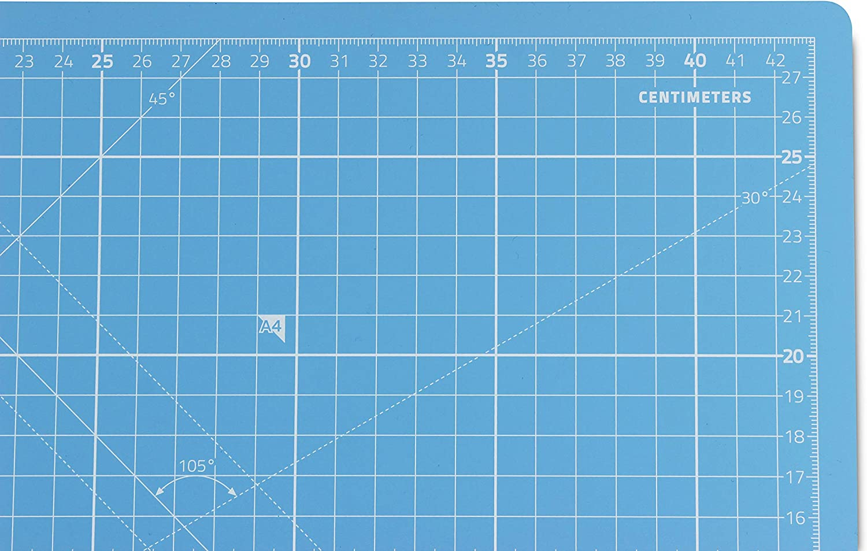 Rosso Tappetino Da Taglio Autoguarigione A3 Base Taglierina Per Patchwork Cucito e Artigianato Centimetri e Pollici con 5 Strati PVC 45x30cm Premium Qualit/à Professionale