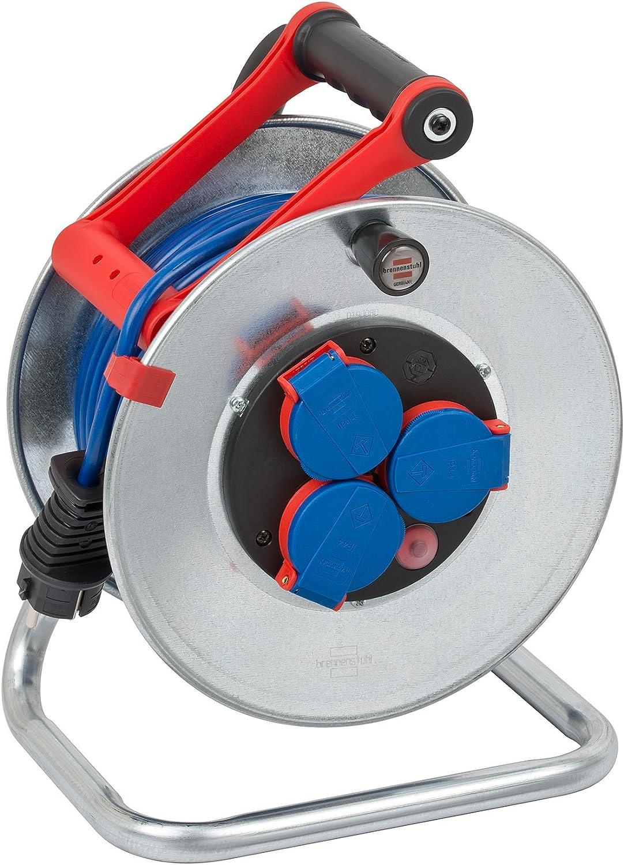 Brennenstuhl 1199830 D/évidoir Garant S N05V3V3-F3G1,5 plein + protection IP 44 avec ch/âssis tr/ès solide tuyau de 50 m