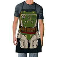ICUP Star Wars - Boba Fett Be The Character Adult Size 100% Cotton Adjustable Black Apron