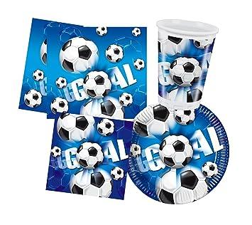 Balón de fútbol para niño cumpleaños fiesta - 10 vasos + 33 ...