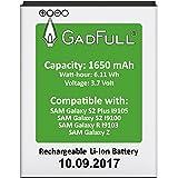 GadFull® Premium Akku für Samsung Galaxy S2 | 2017 Baujahr | wie EBF1A2GBU | Galaxy S2 i9100 | Galaxy S2 Plus i9105 | Galaxy R i9103 | Galaxy Z | Batterie Accu Battery