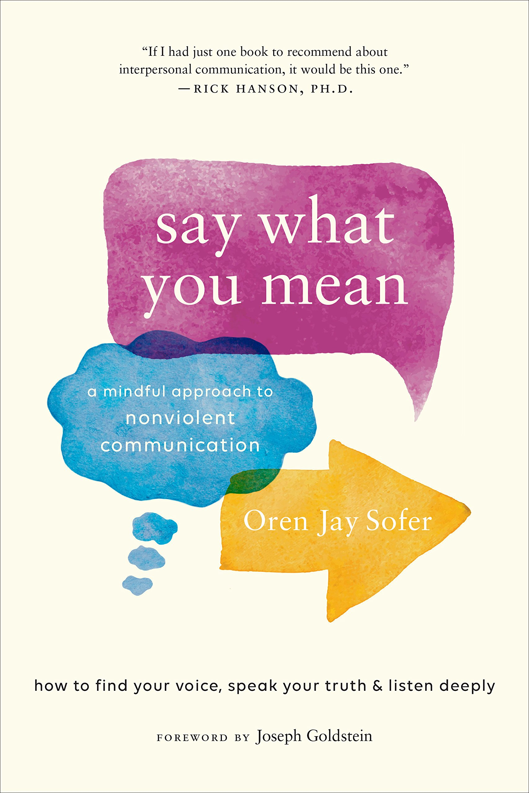 Say What You Mean: A Mindful Approach to Nonviolent Communication: Oren Jay  Sofer, Joseph Goldstein: 9781611805833: Amazon.com: Books