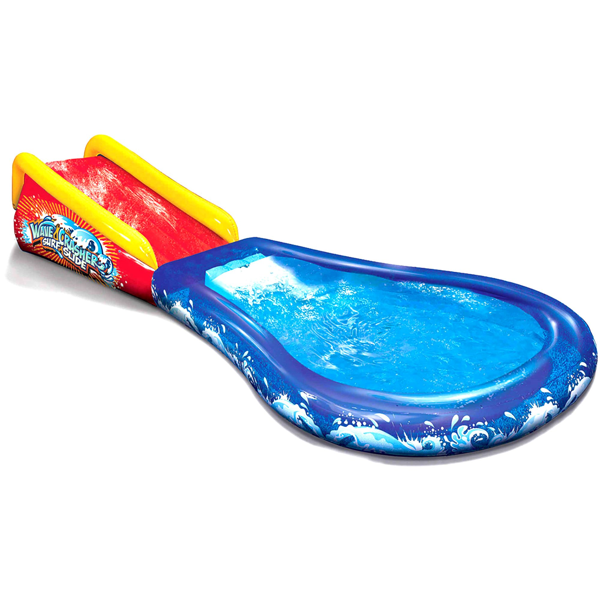 Inflatable Slip N Slide Pool. This Wave Crasher Kiddie Blow Up Above Ground Long Water Slide Is Great For Toddlers, Children, Kids. Plus Boogie, Aqua Splash To Have Outdoor Water Fun W/all Family.