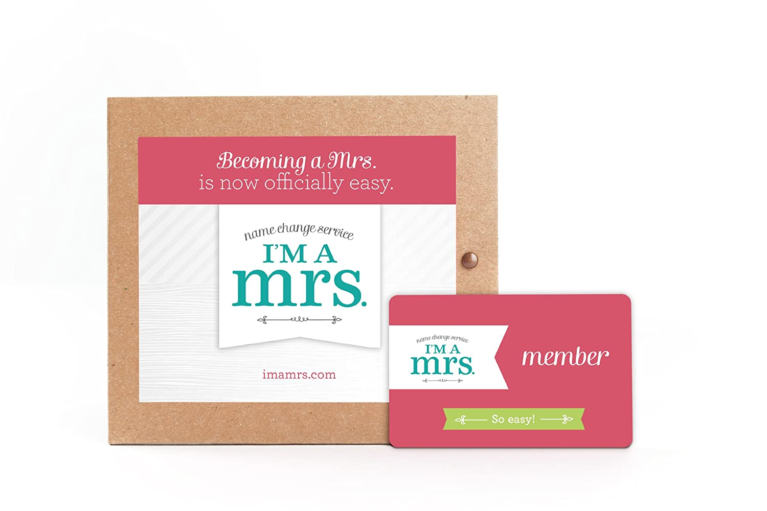 Amazon.com: Marriage Name Change Kit, Unique Wedding Gift for the ...