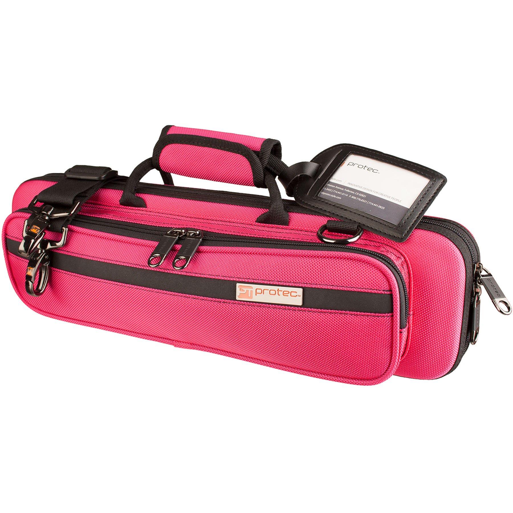 Protec PB308HP  Flute Slimline PRO PAC Case,  Pink