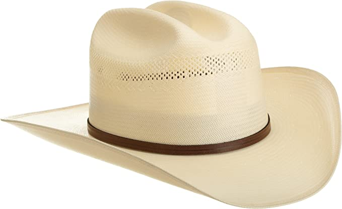 RESISTOL Mens 10X Straw Cowboy Hat 7 5//8 Natural