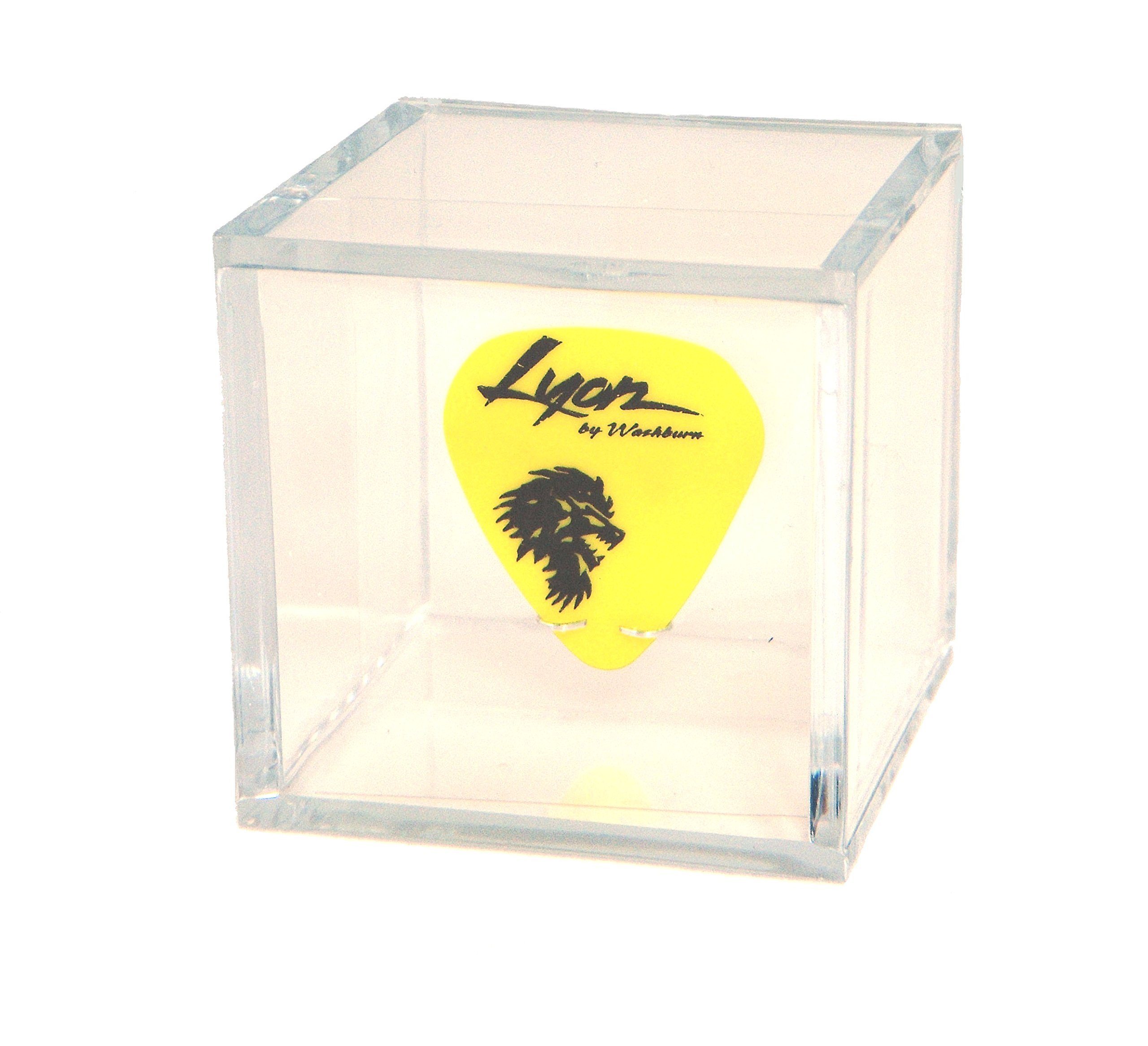 Clear Display Box Case with Guitar Pick Holder for any Collectible Guitar Pick