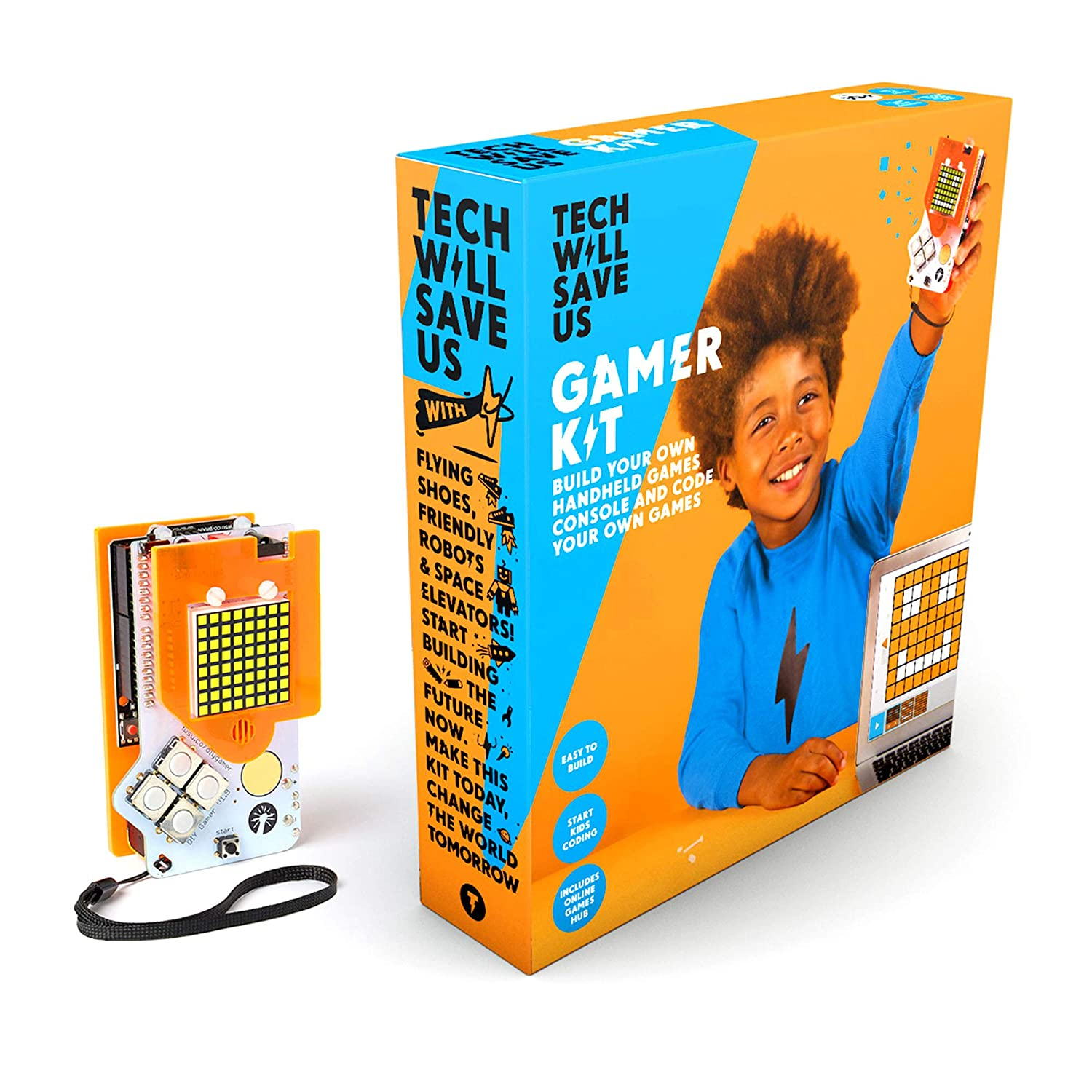 Tech Will Save Us, Gamer Kit (ready-soldered) | Coding Games For Kids, Ages 10 + Technology Will Save Us 5060402300219
