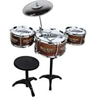 Webby Kids Jazz Drum with Stand and Seat, Multi Color