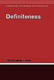 Definiteness (Cambridge Textbooks in Linguistics)