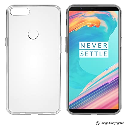 huge selection of dd4c8 535c0 Foso Back Cover for OnePlus 5T (Transparent)