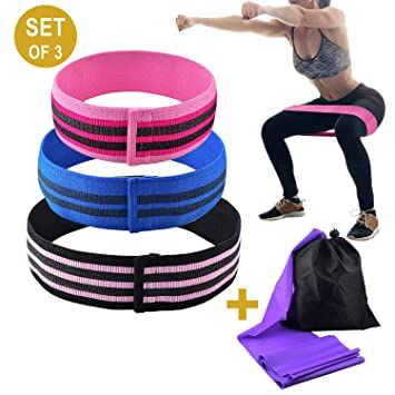 Hip Resistance Bands Non Slip Booty Exercise Loop Bands for Legs Butt Workout Fabric Thick Resistance Bands for Glutes,Physical Therapy,Stretch ...
