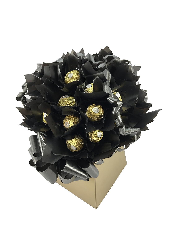 Ferrero Rocher 20 Piece Sweet Chocolate Bouquet Hamper Black And