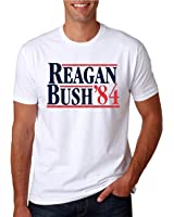 Hot Ass Tees Adult Unisex Reagan Bush 1984 Shirt Republican Presidential Campaign T-Shirts Funny Novelty Parody T-Shirt