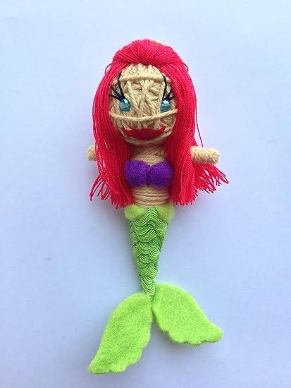 Amazon.com: Riel la Sirenita vudú muñeca de cuerda llavero ...