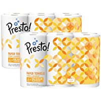 Deals on 12-Count Amazon Brand Presto Full-Sheet Paper Towels Huge Roll