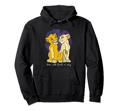 2ad194836 Amazon.com: Disney Lion King Simba Nala Love Valentine's Graphic Hoodie:  Clothing