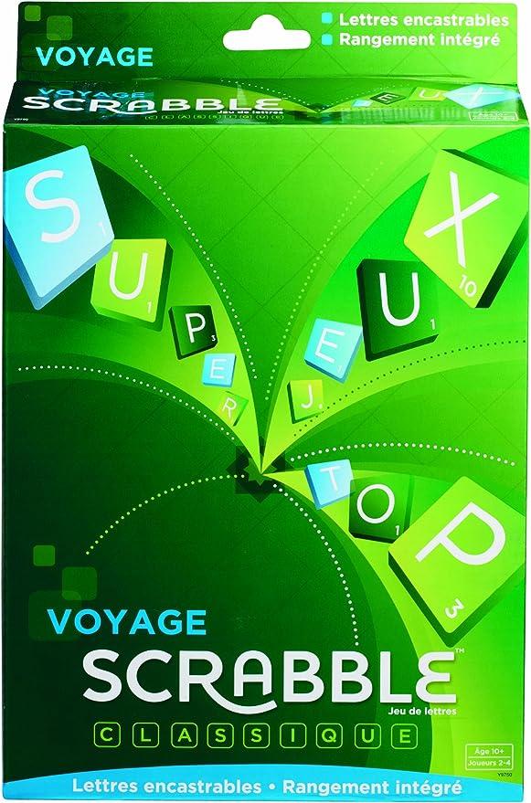 SCRABBLE - Juguete de Viaje (Y9750) (versión en francés): Amazon.es: Juguetes y juegos