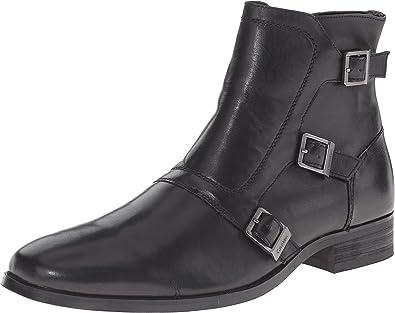 Amazon.com   Calvin Klein Men\'s Stark Black Leather Boot   Boots
