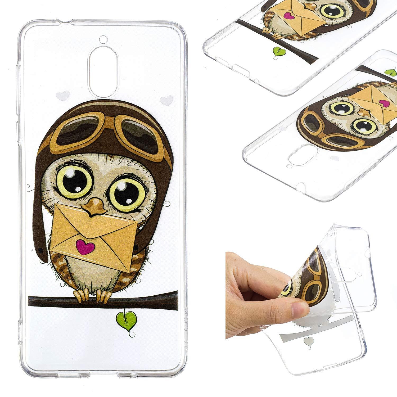 BONROY Nokia 3.1 (2018) Coque en Silicone, Ultra-Fine Mince Slim Housse Etui de Protection Silicone Gel TPU Souple Bumper Case Souple Coque de Protection avec Absorption de Choc et Anti-(relief - panda bamboo)