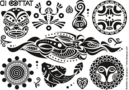 Tatouage Ephemere Temporaire Maori Tribal Tattoo Id Hypoallergenique