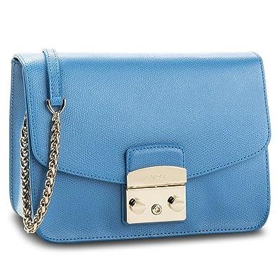 2f0c95b57f Amazon.com: Furla Women's Borsa A Tracolla Furla Metropolis In Pelle  Celeste Light Blue: Shoes