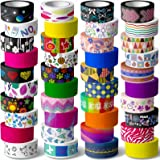 40 Rolls Washi Tape Set - 15 mm Wide Colored Masking Tape for Kids and Аdults,Decorative Adhesive for DIY Crafts,Gift Wrappin