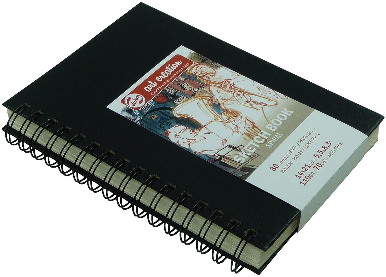 Skitzenbuch, Sketch Book, 80 Blatt,mit Spirale, 14x21 cm