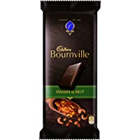Cadbury Bournville Dark Chocolate Bar with Raisin and Nuts, 80g (Pack of 4)