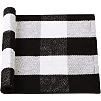 uxcell Cotton Plaid Area Floor Rugs Carpet Indoor Outdoor, Woven Washable Buffalo Checkered Mat Rugs, Retro Doormat…