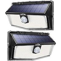 LITOM 160 LED Outdoor Solar Motion Sensor Lights, IP67 Waterproof Solar Powered Security Lights Wireless Solar Wall…