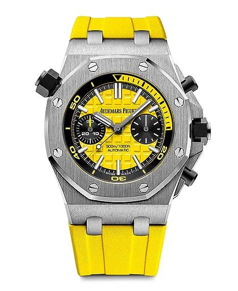 01a319ef0d8 Audemars Piguet AP Royal Oak Offshore Diver Chronograph Yellow  26703ST.OO.A051CA.01  Audemars Piguet  Amazon.ca  Watches