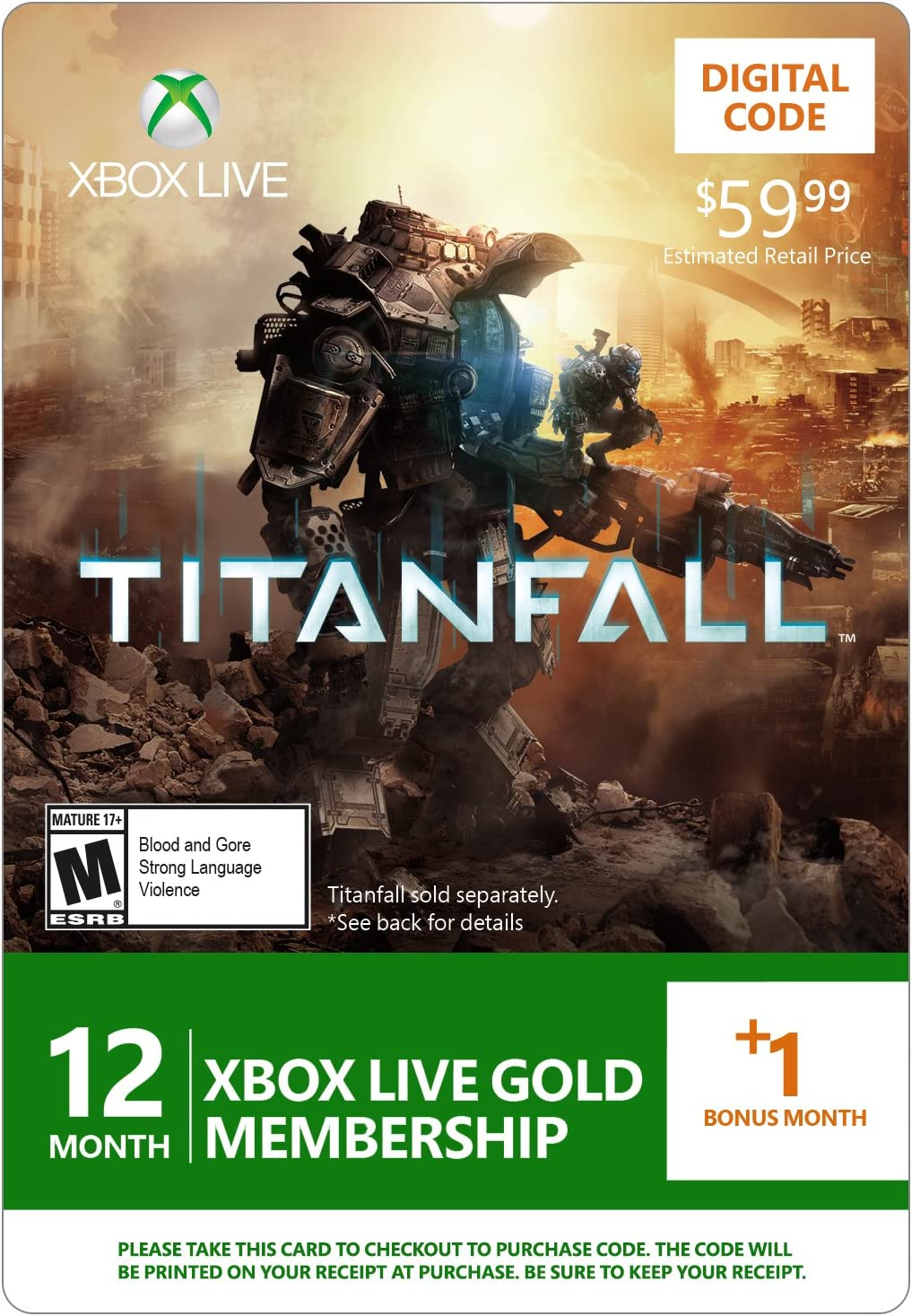 Amazon.com: Xbox LIVE 12 Month +1 Month Gold Membership for ...