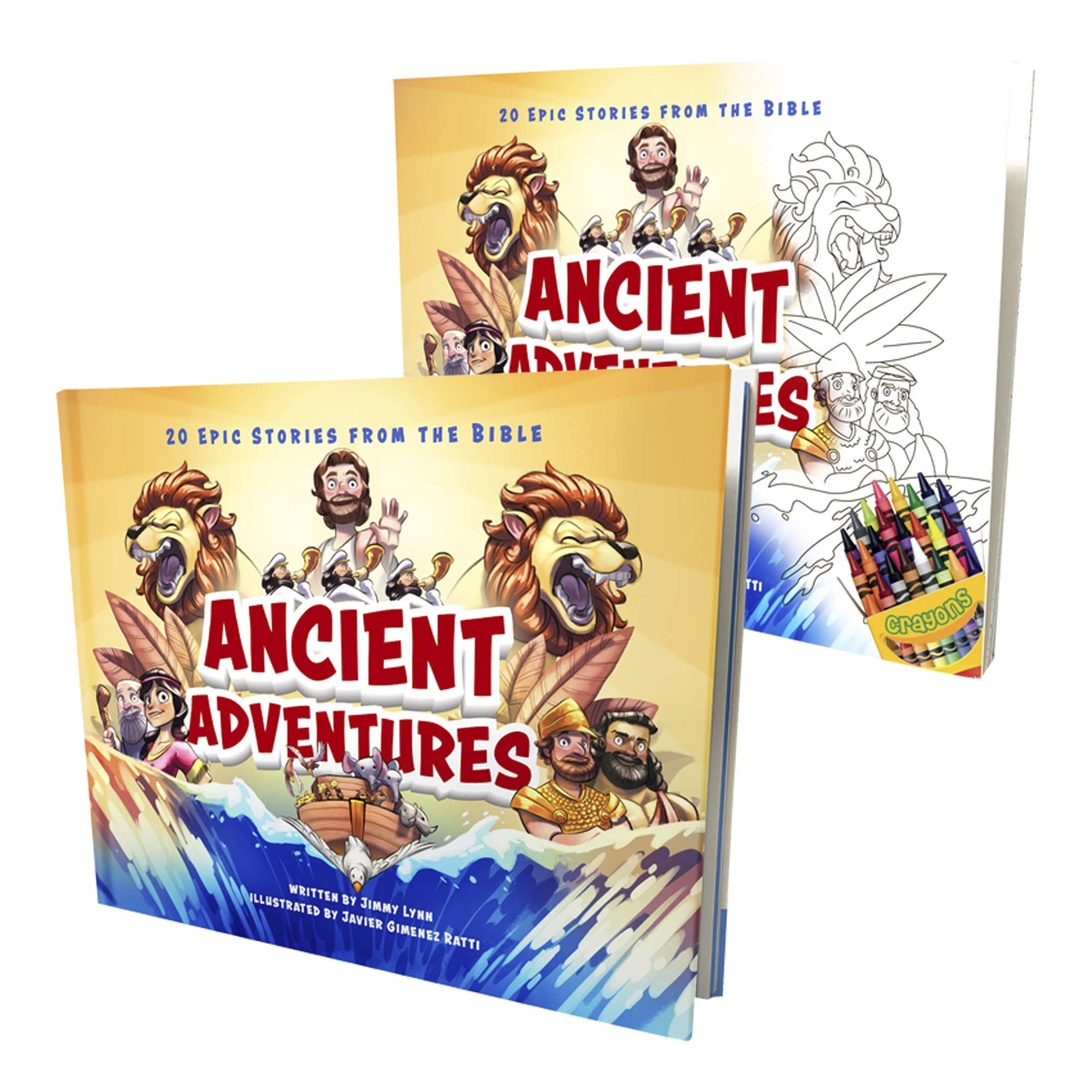 Ancient Adventures: 20 Epic Stories from The Bible + Coloring Book Edition for Kids - Children's Beginner's Bible & Storybook Fun Way to Bring Color to God's Message