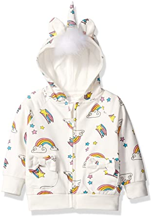 8a9581ca9 Amazon.com  Rosie Pope Baby Girls  Unicorn Hoodie  Clothing